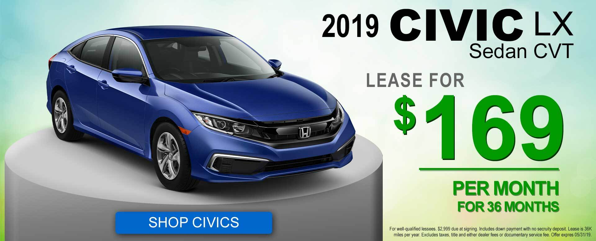 2019 Civic Lease Offer