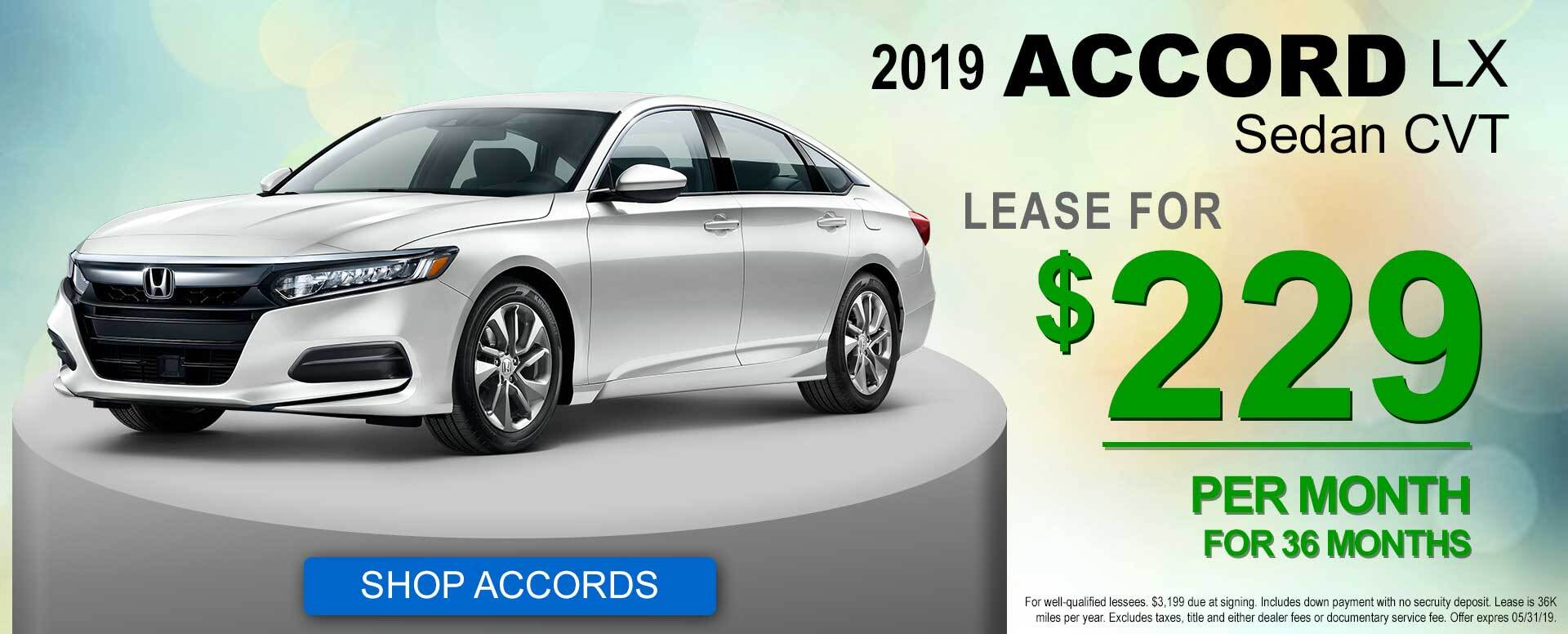 2019 Accord Lease Offer