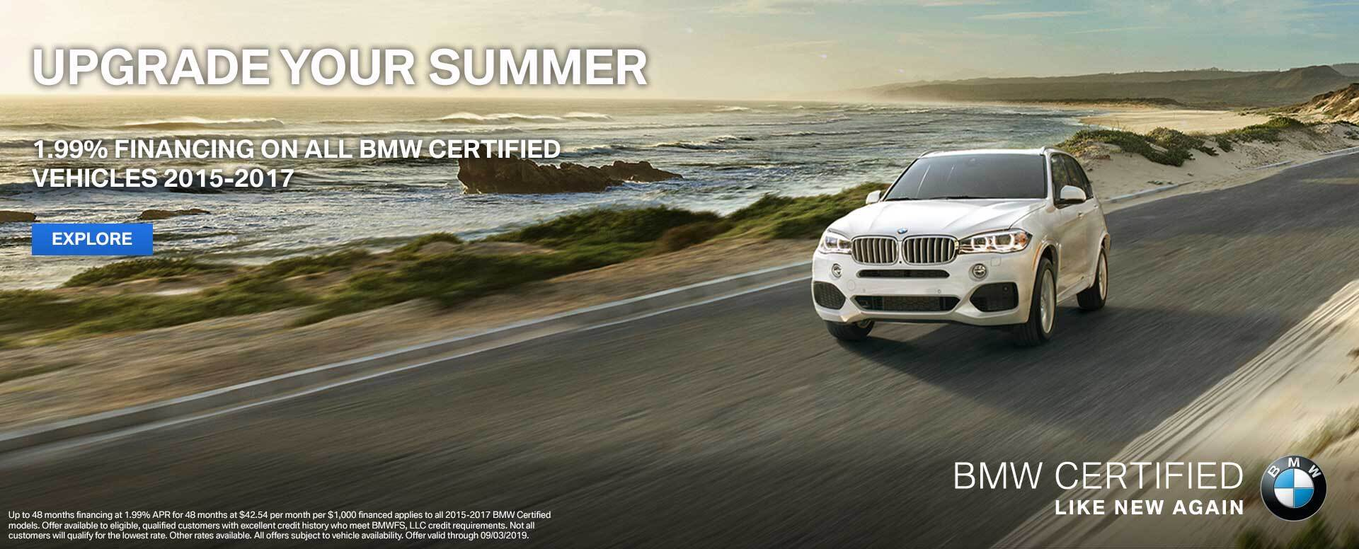 BMW CPO August Offer