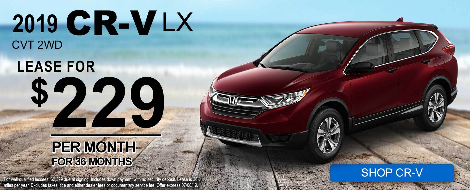 June CR-V Offer