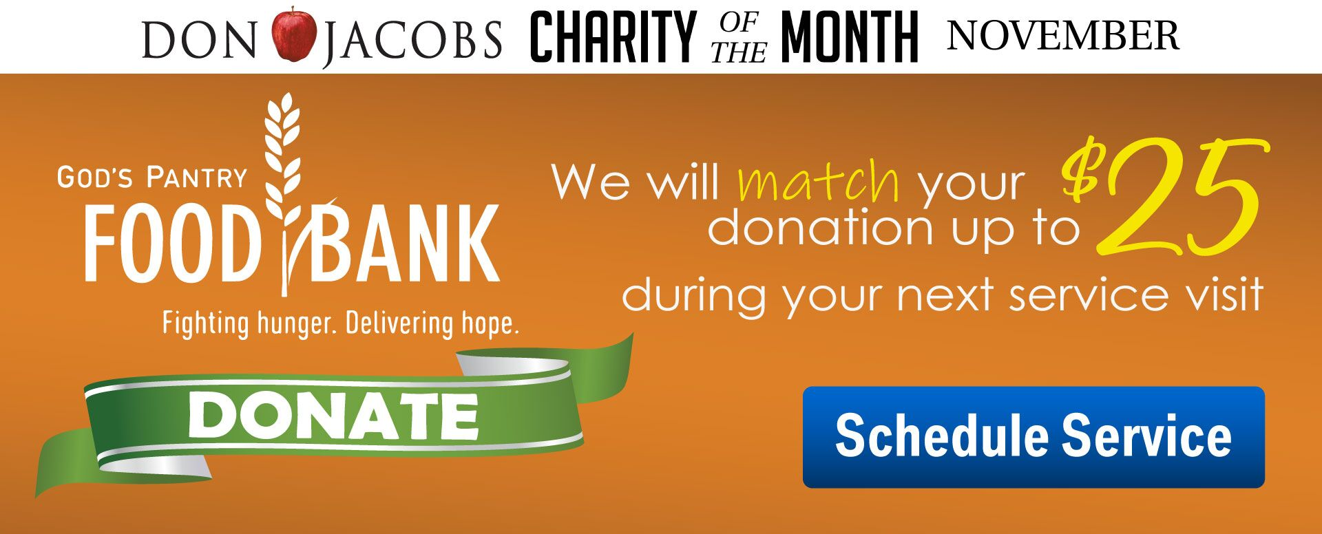 Charity of the Month - God's Pantry Food Bank