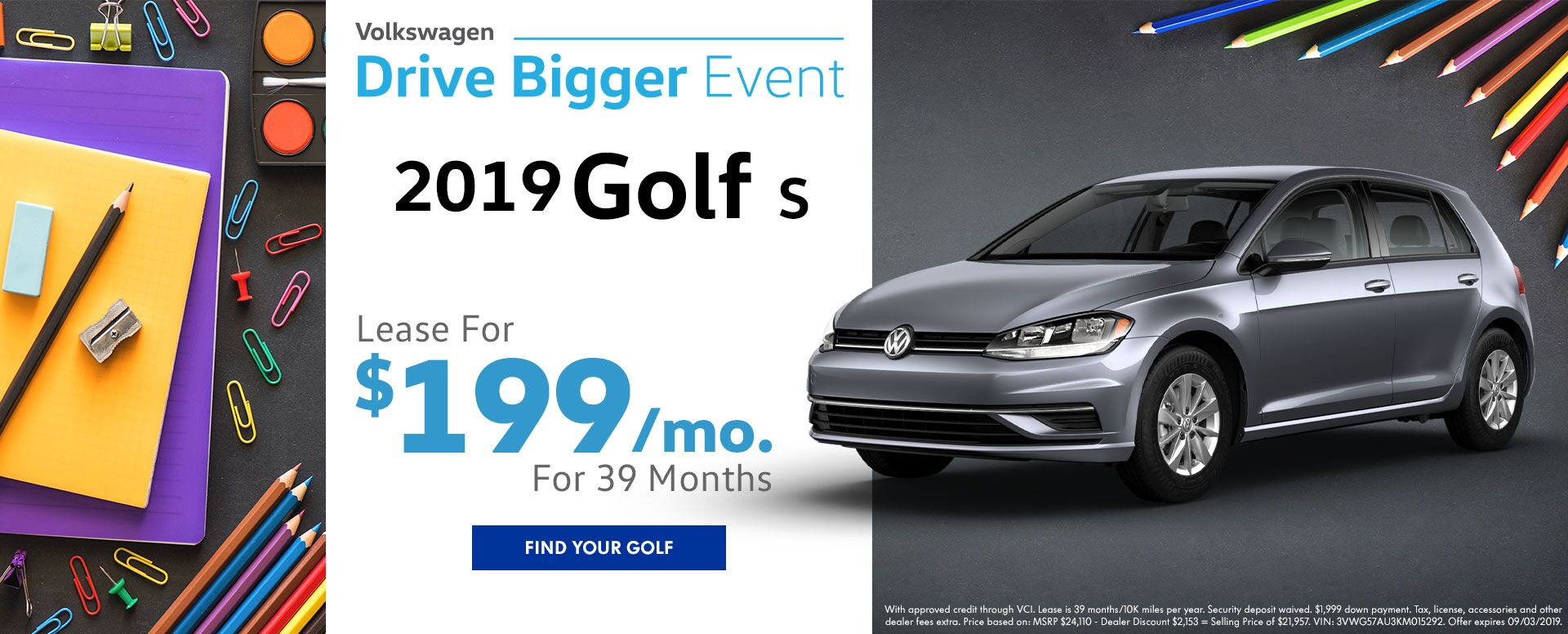 2019 Golf Lease Offer
