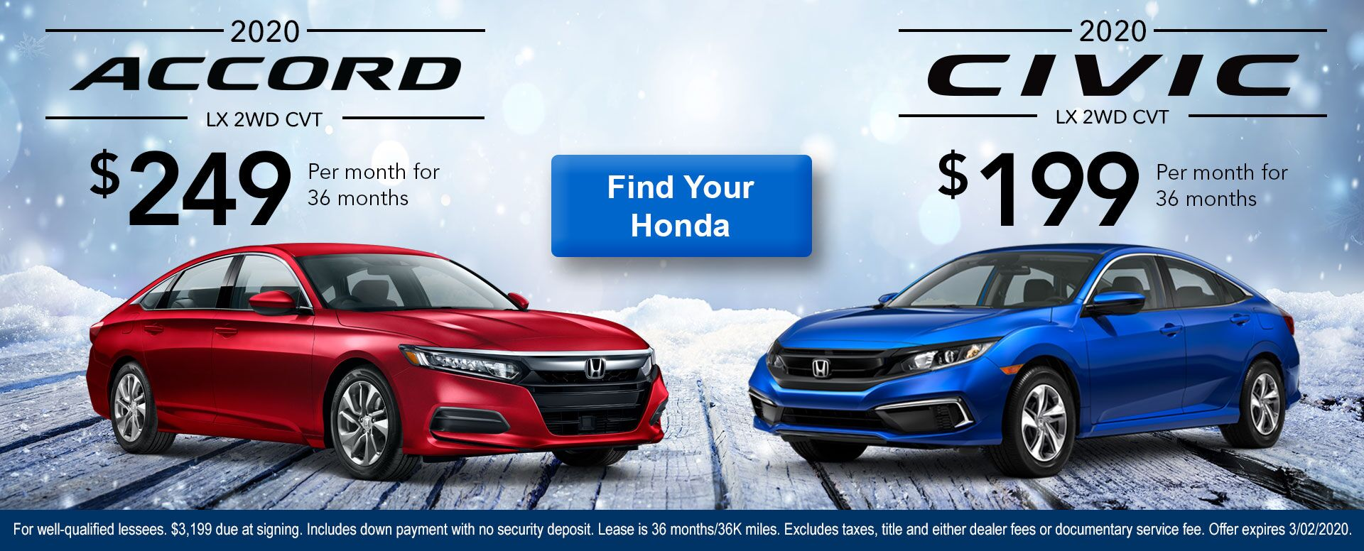 Accord & Civic January Offer