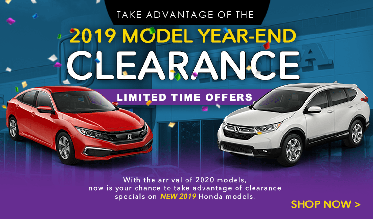 2019 Honda Model Year Clearance