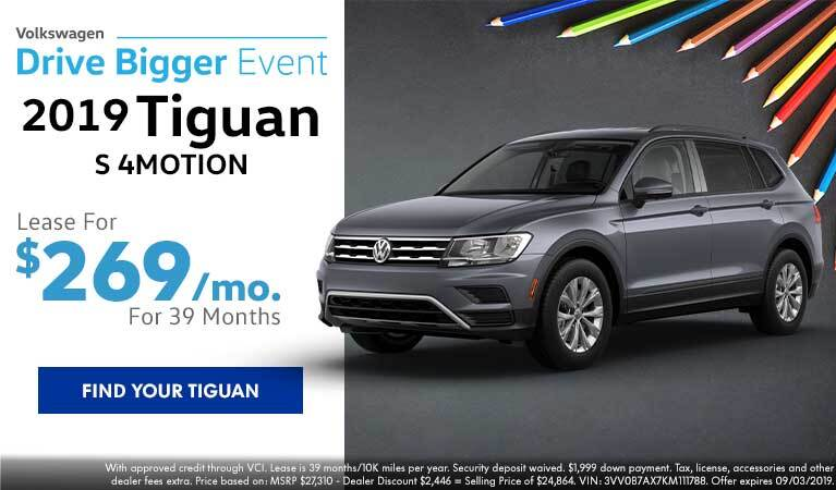 2019 Tiguan S Lease Offer