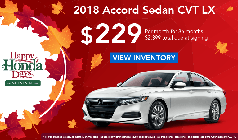 Happy Honda Days Accord Nov18