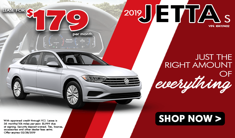 2019 Jetta S Lease Offer