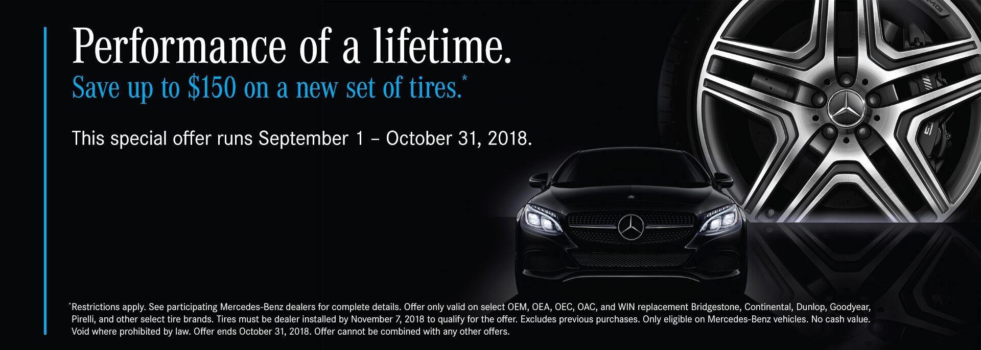 September Tire Promo. More Mercedes