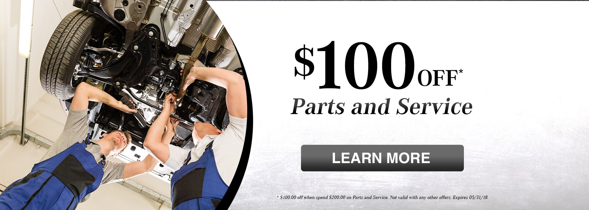 Parts and Service $100 off