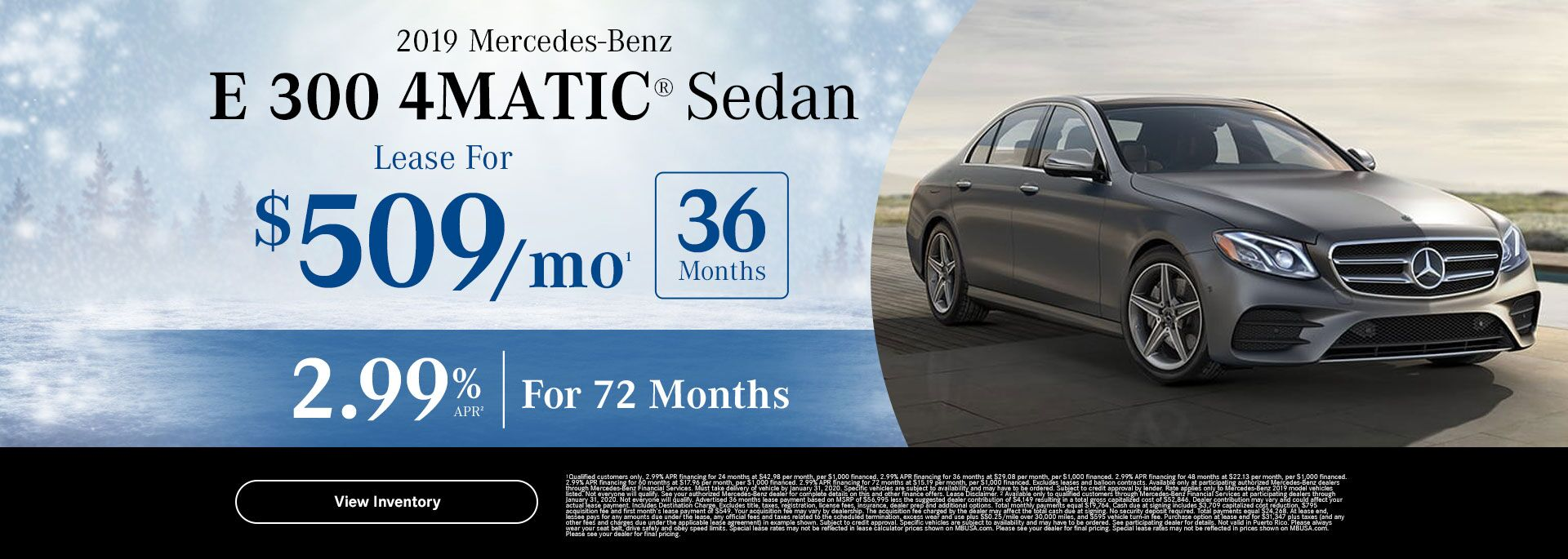 2019 E 300 4MATIC lease special