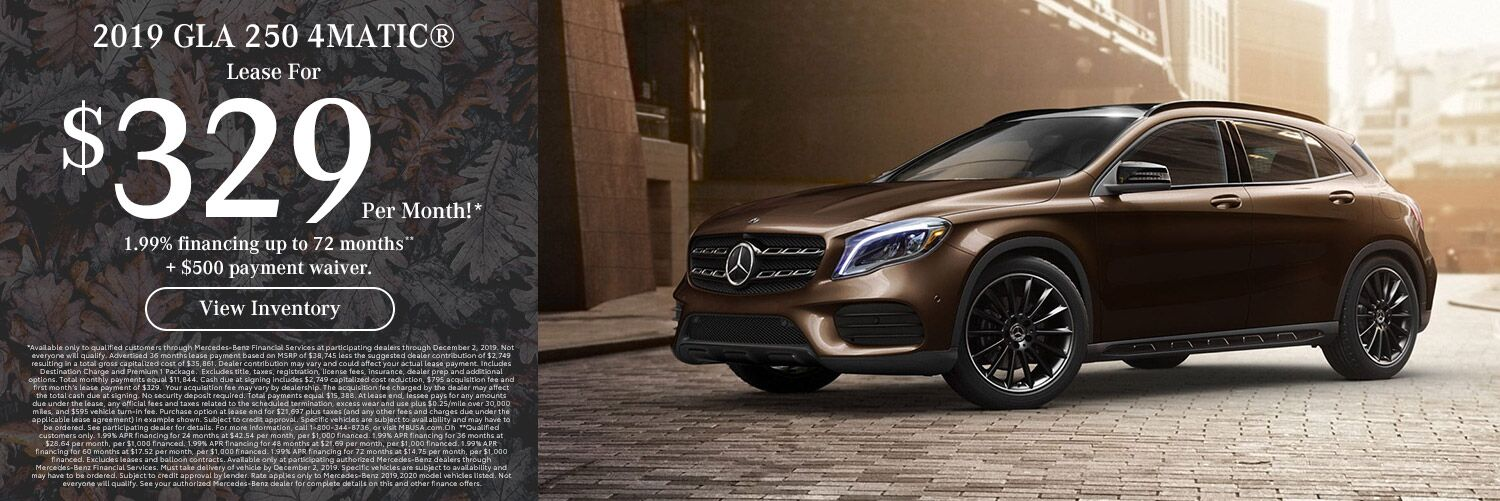 2019 GLA 250 4MATIC lease