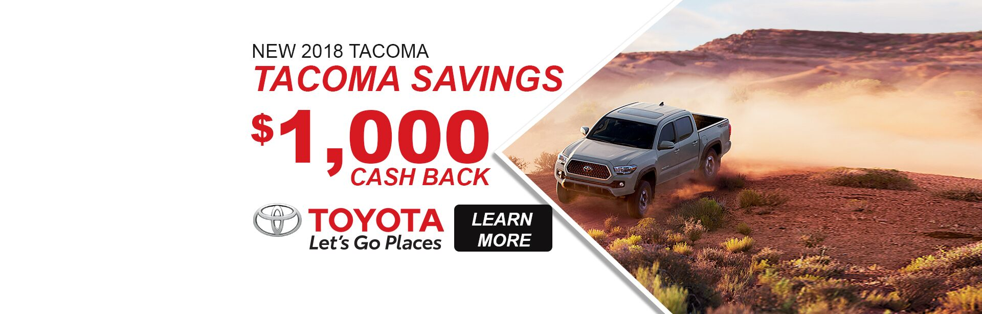 2018 Tacoma Savings