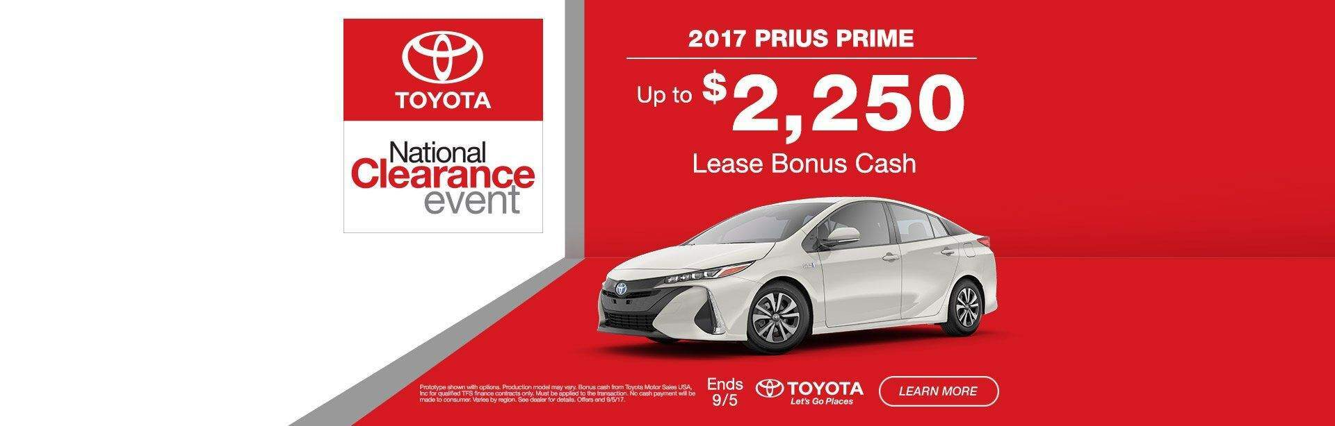 National Clearance Event Prius Prime