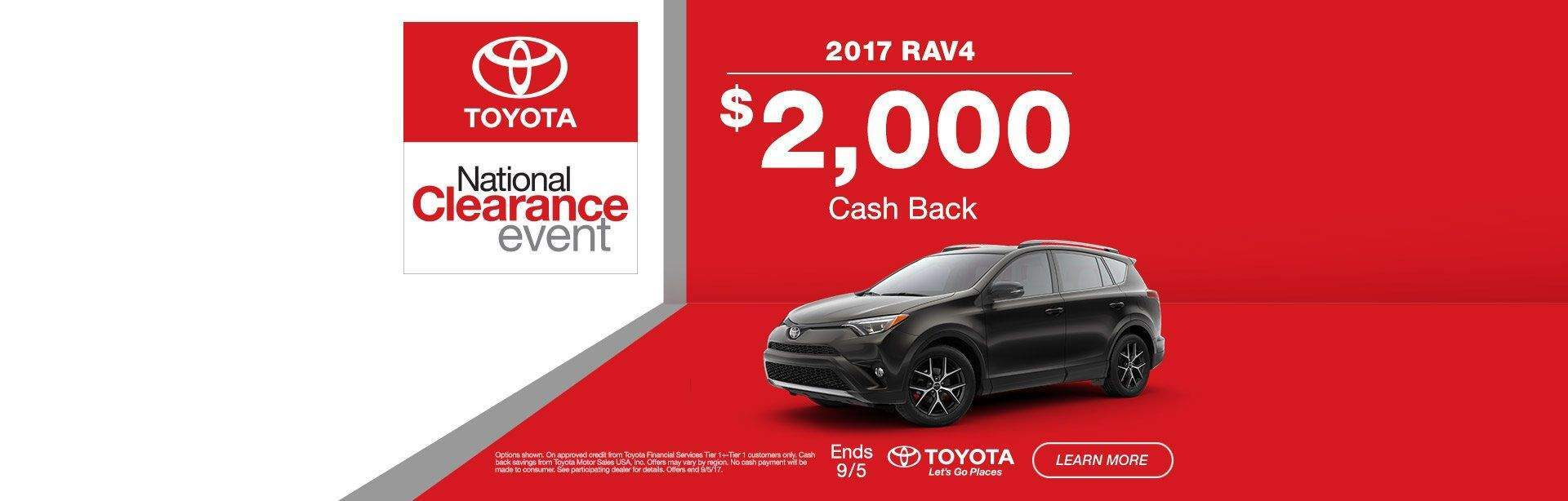 National Clearance Event RAV4