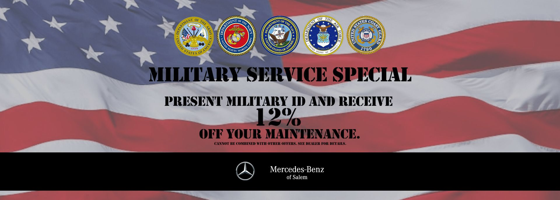 Military Appreciation Discount on service at Mercedes-Benz of Salem