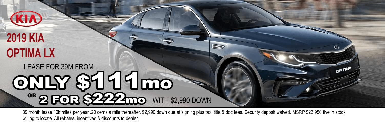 2019 KIA Optima at VanDevere Kia
