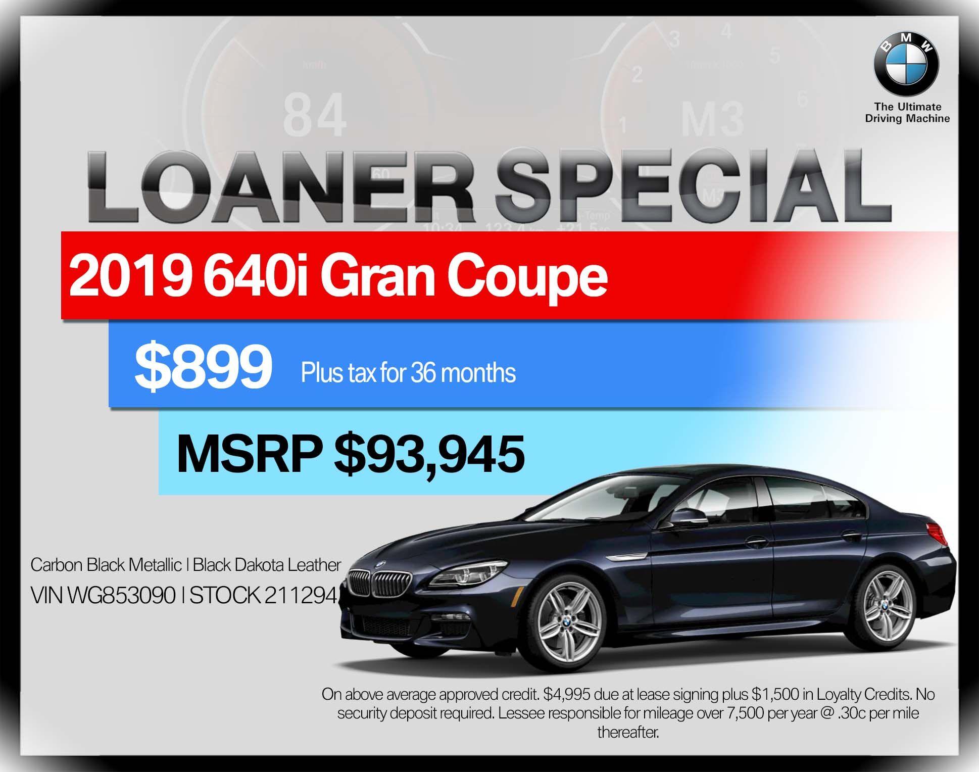 2019 BMW 6 Series 640i Gran Coupe