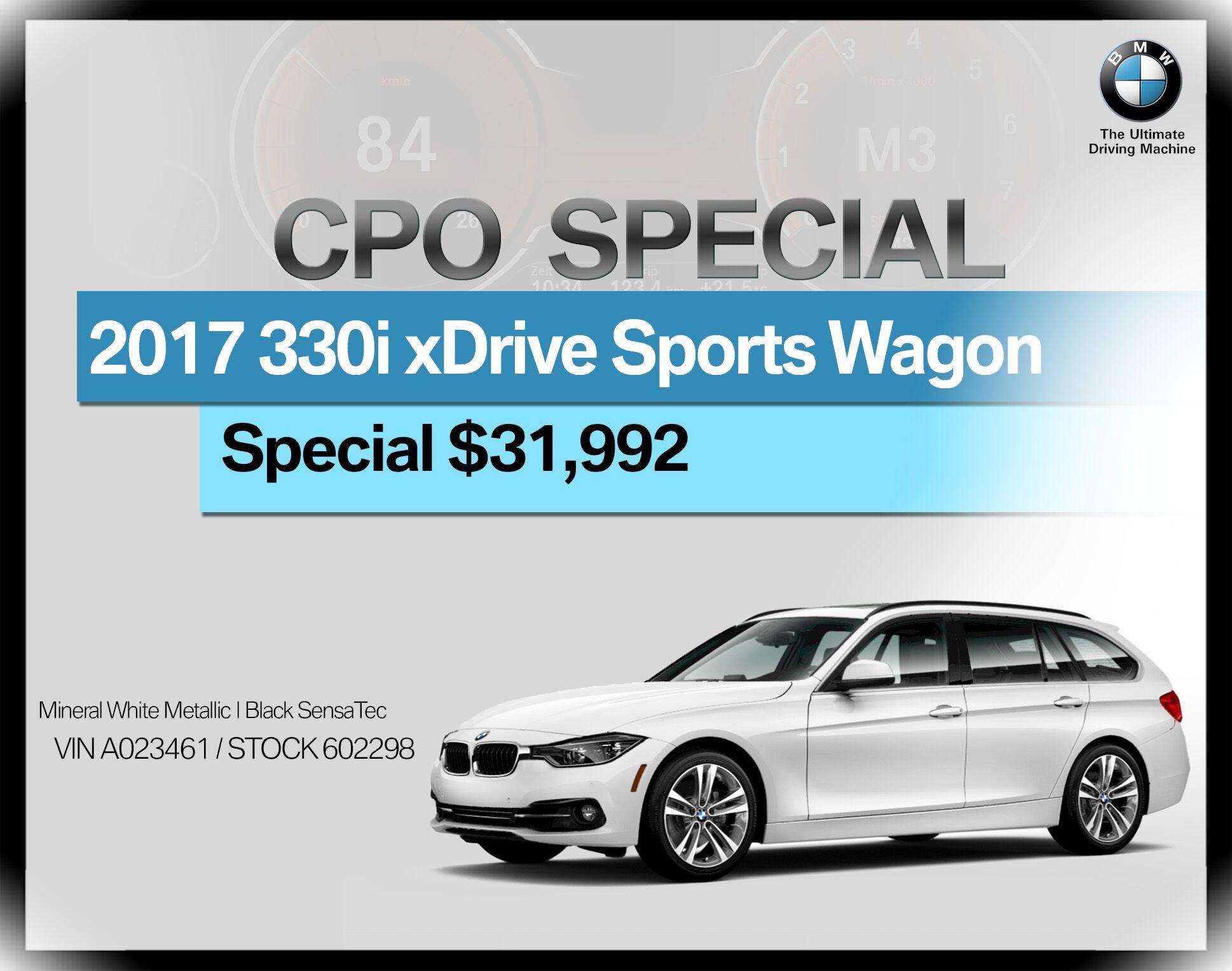 2017 BMW 3 Series 330i xDrive Sports Wagon
