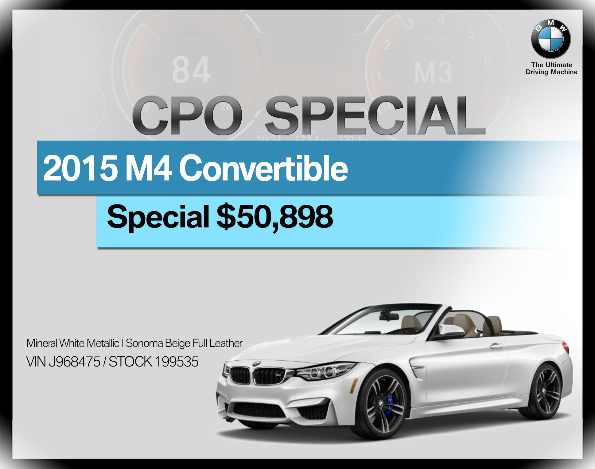 2015 BMW M4 2dr Conv
