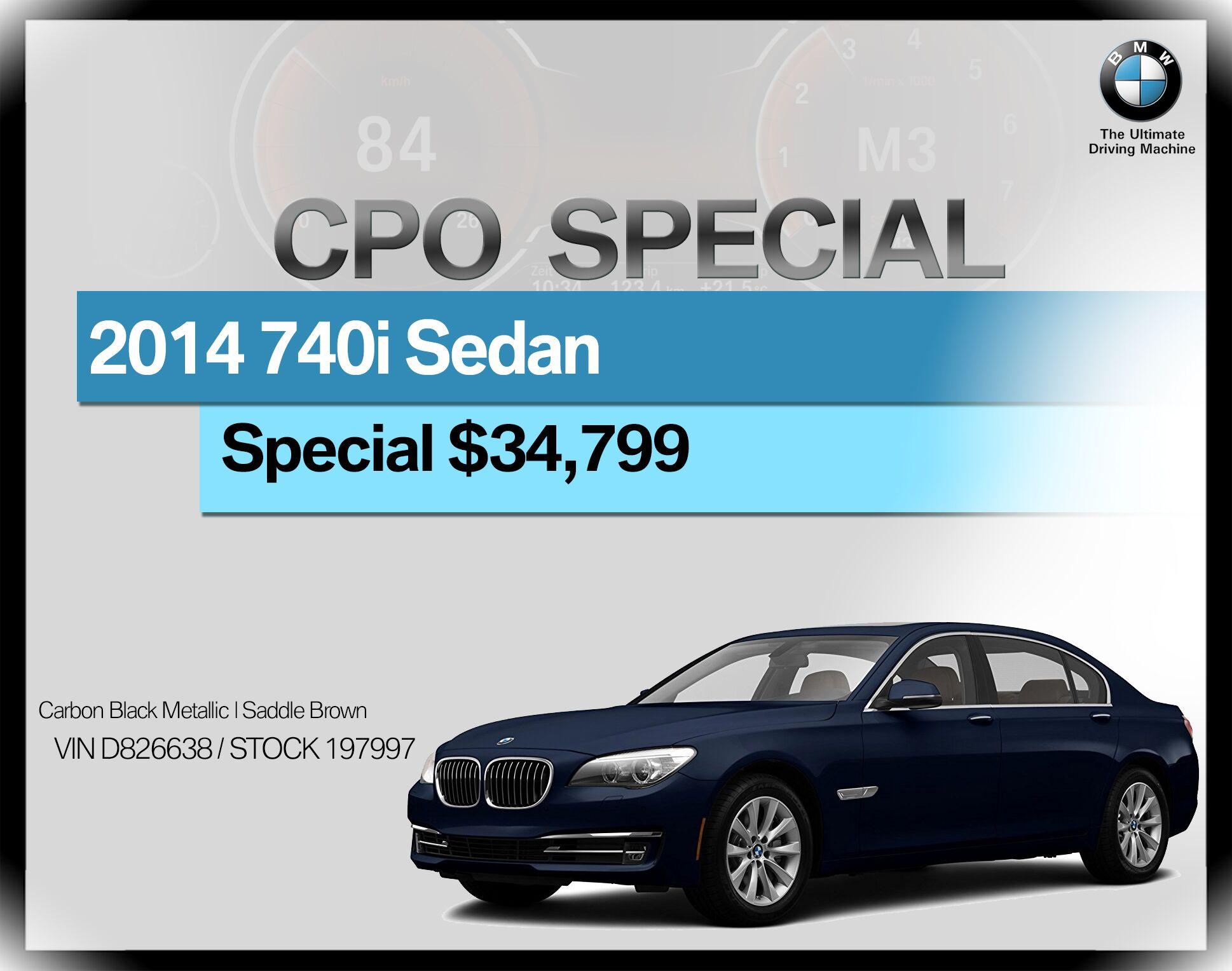 2014 BMW 7 Series 4dr Sdn 740i RWD