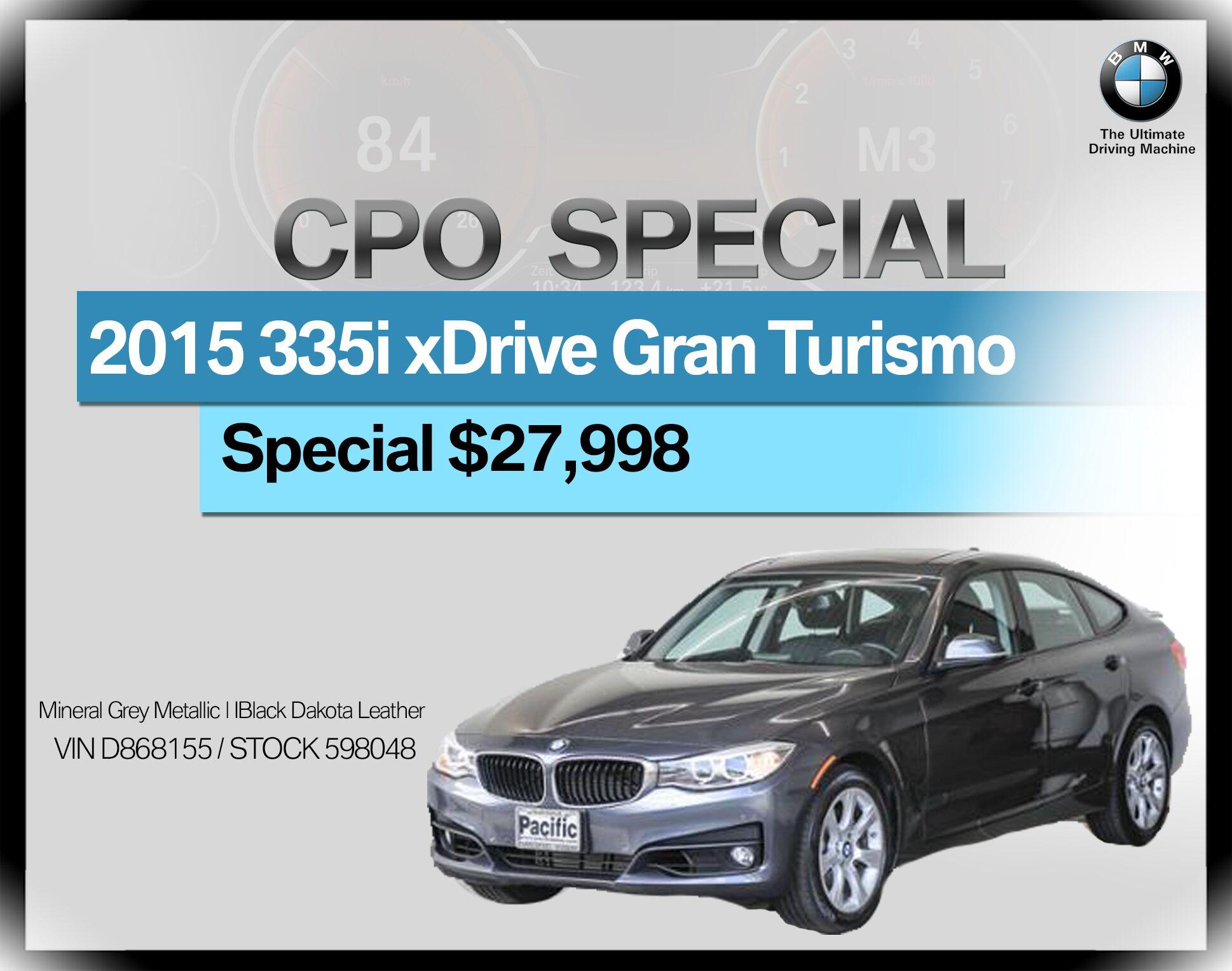 2015 BMW 3 Series Gran Turismo 5dr 335i xDrive Gran Turismo AWD