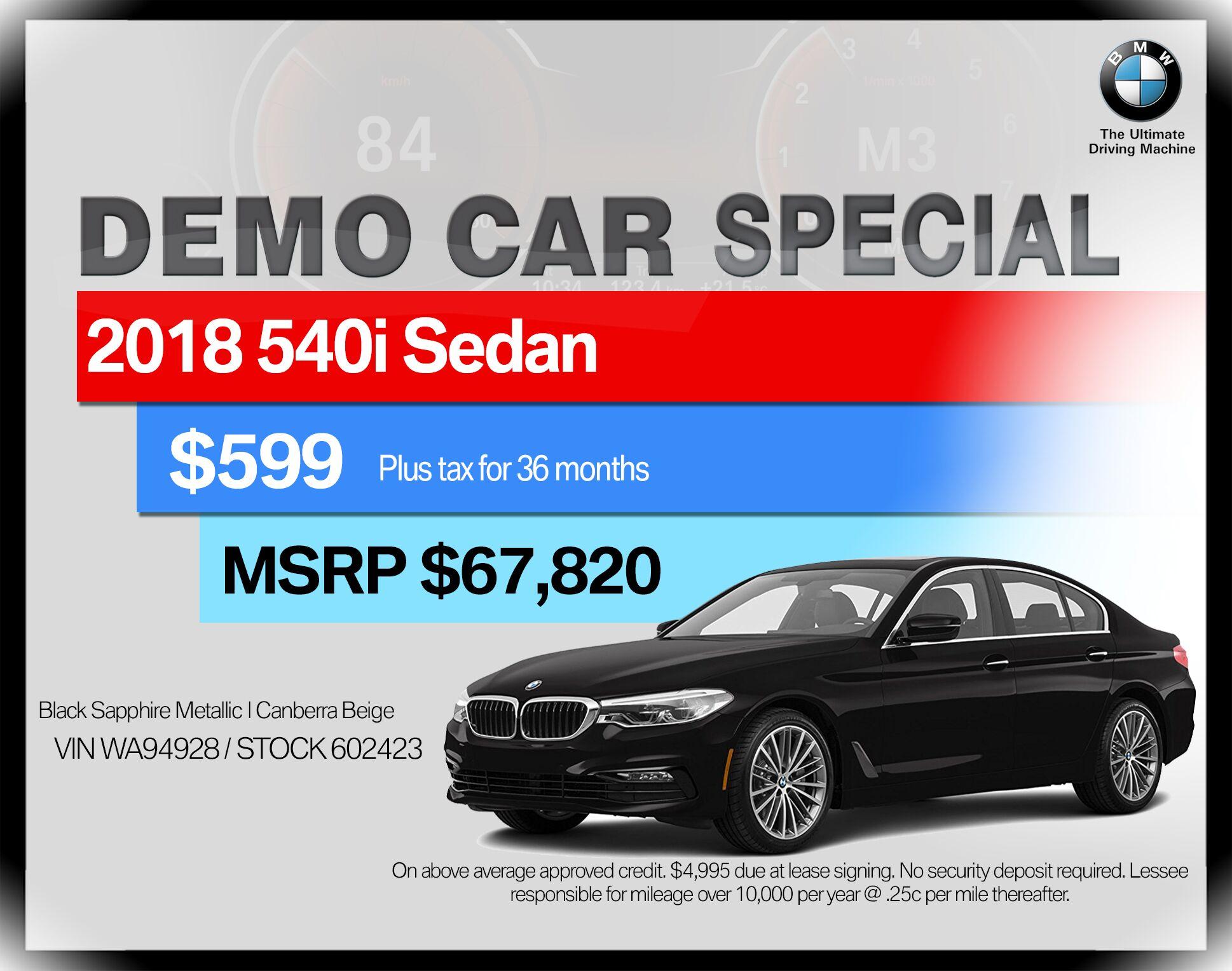 2018 BMW 5 Series 540i Sedan