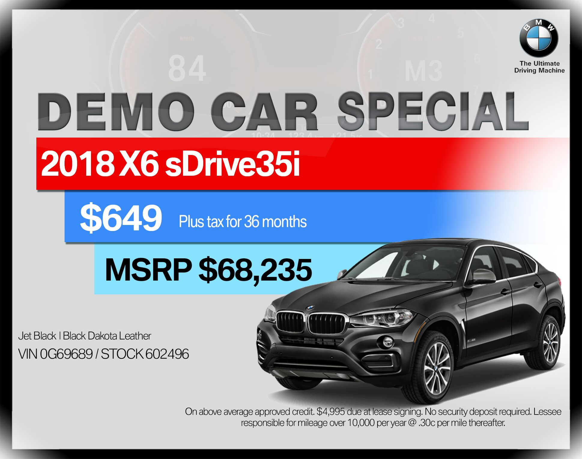 2018 BMW X6 sDrive35i Sports Activity Coupe