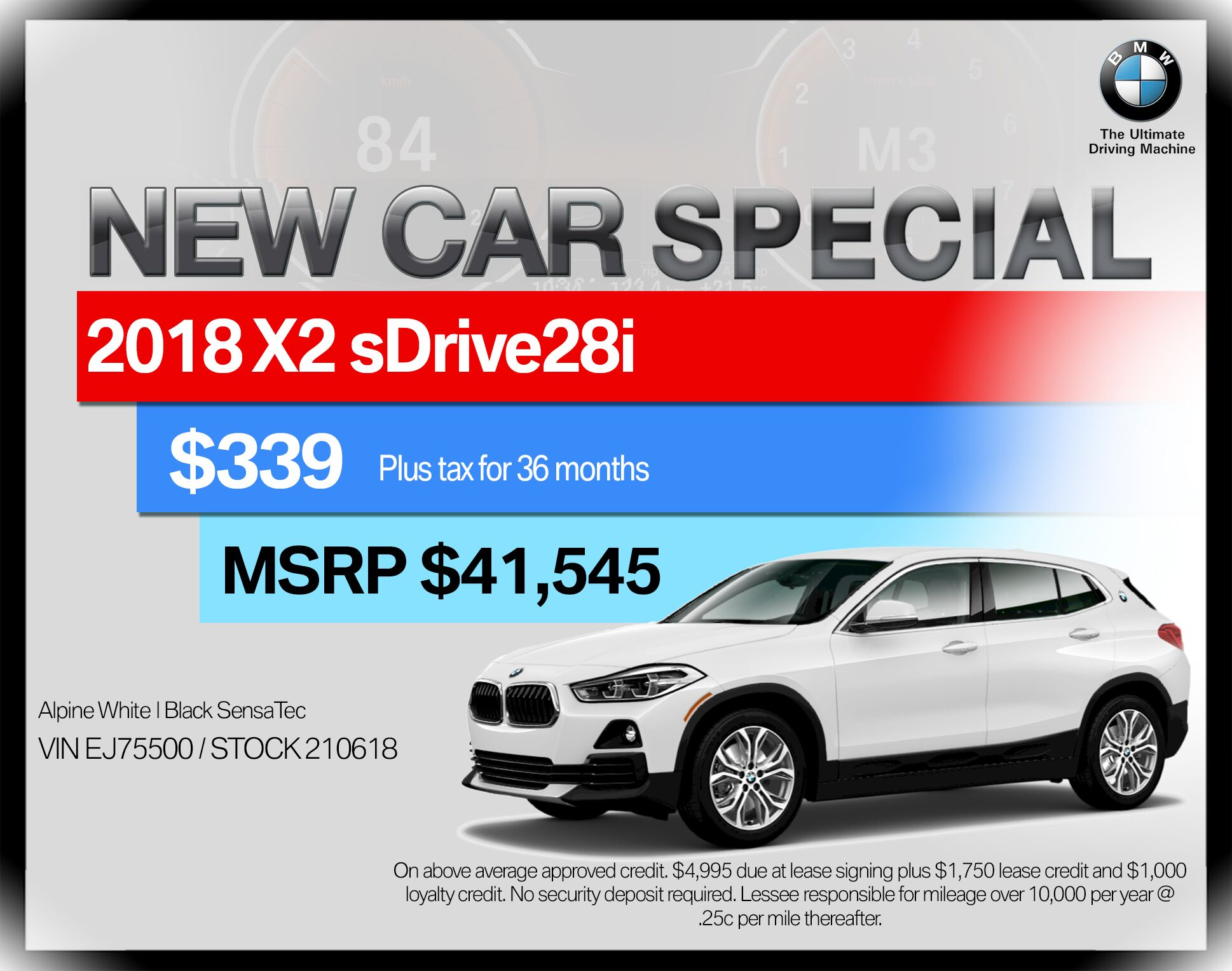 2018 BMW X2 sDrive28i Sports Activity Vehicle