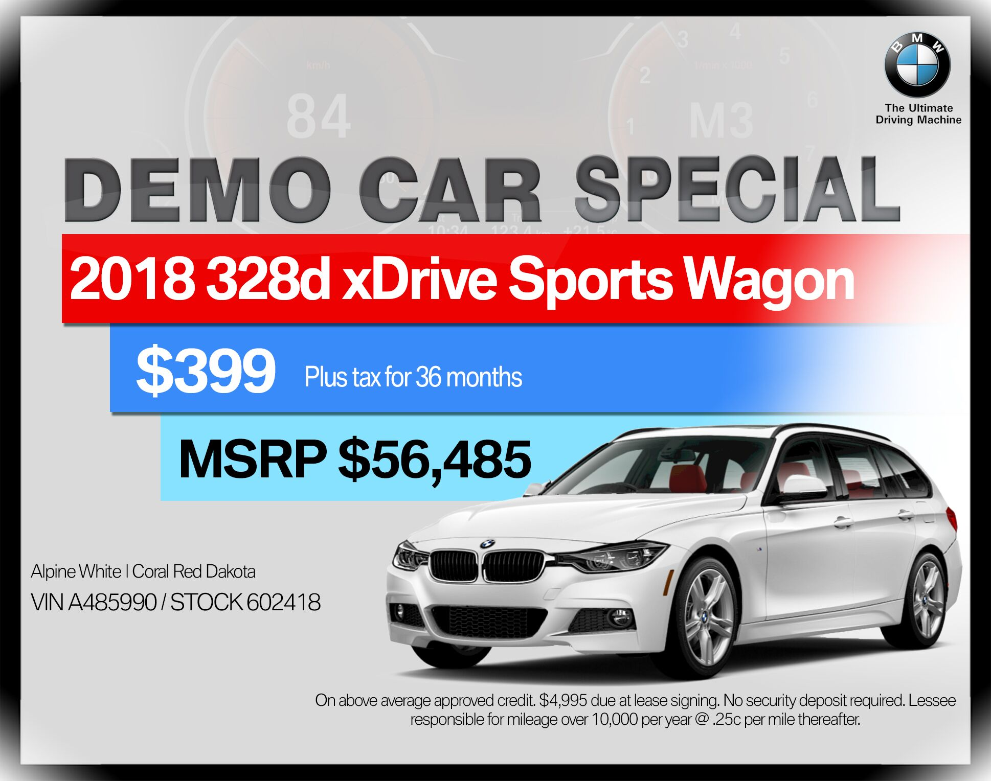 2018 BMW 3 Series 328d xDrive Sports Wagon