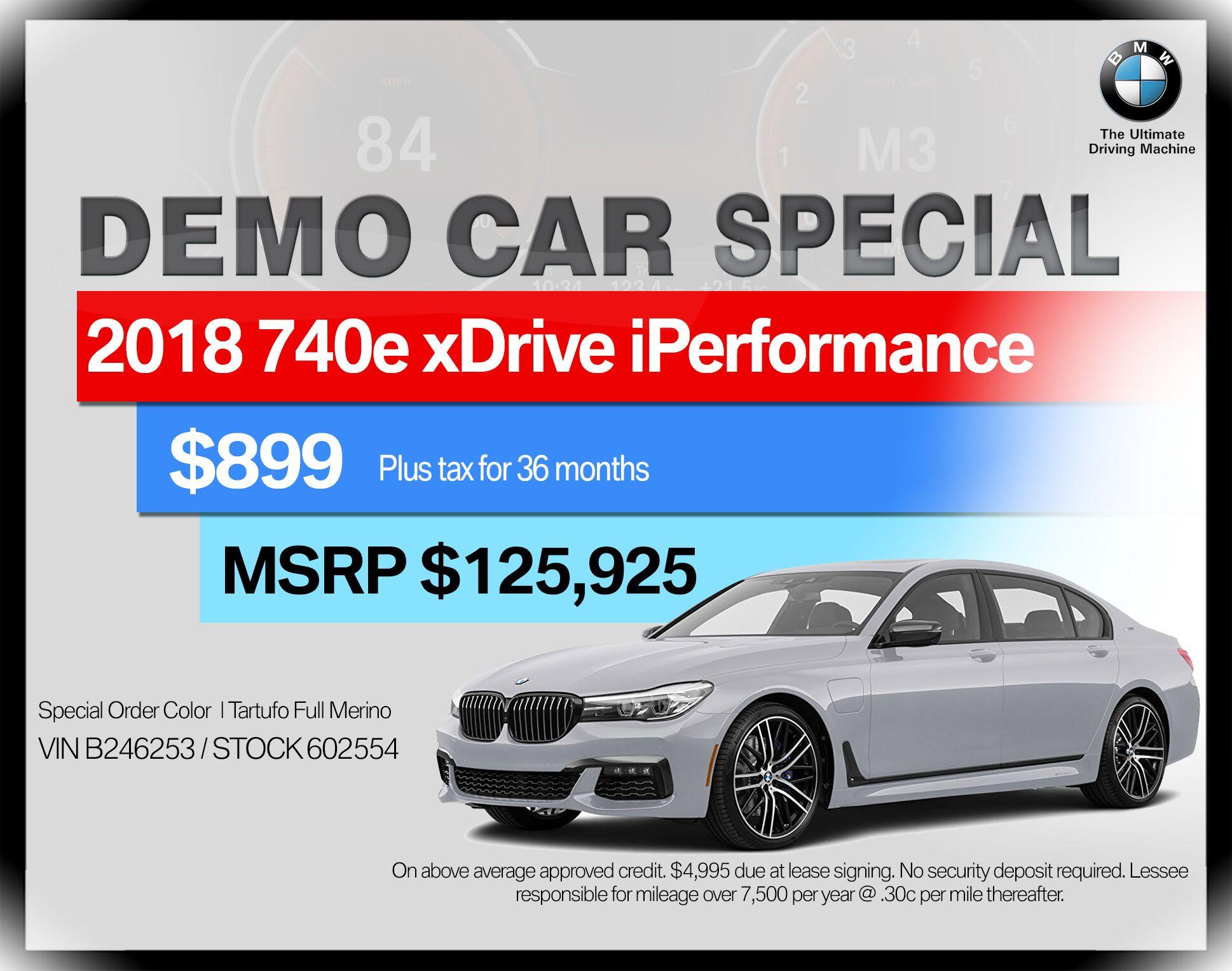 2018 BMW 7 Series 740e xDrive iPerformance Plug-In Hy