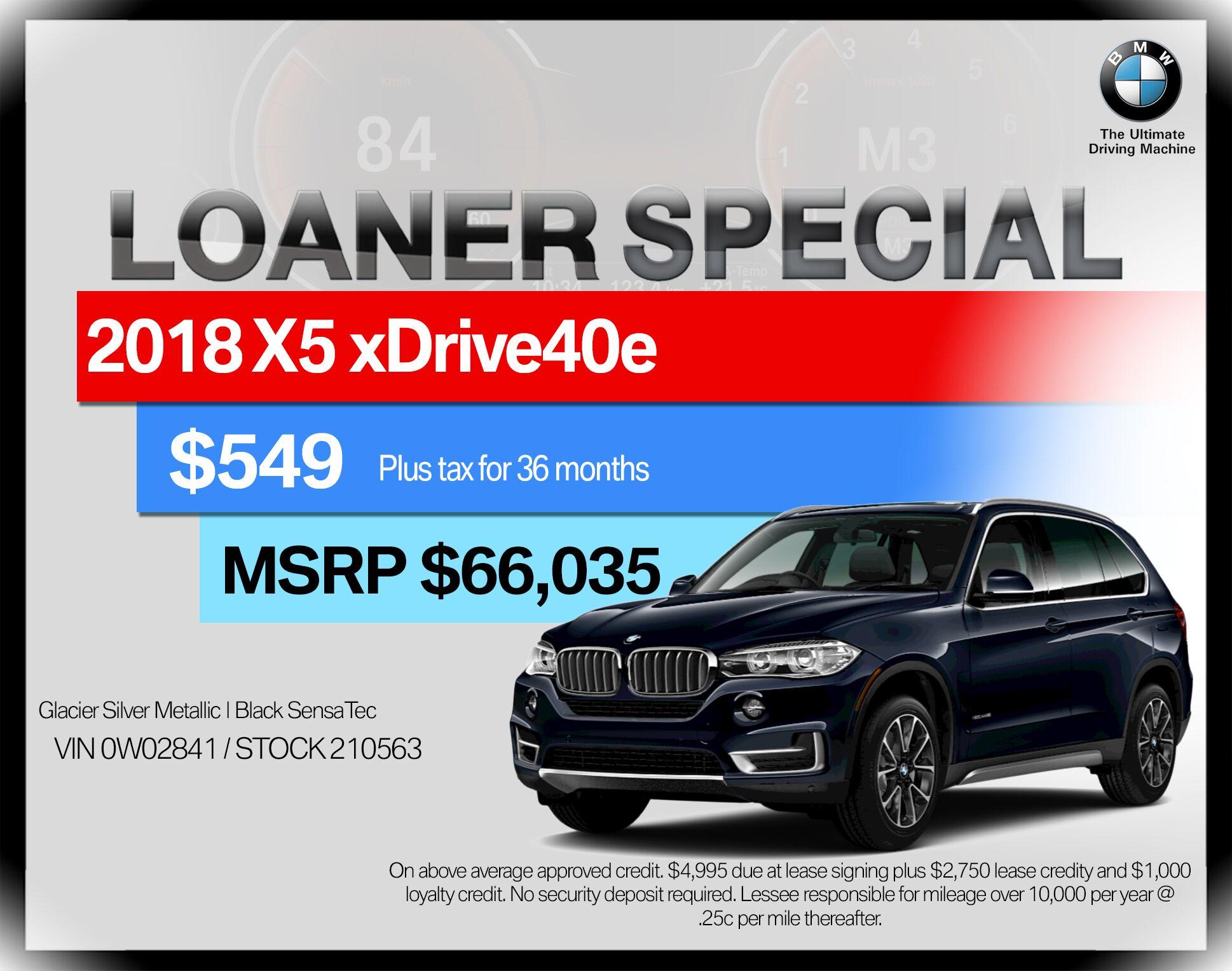 2018 BMW X5 xDrive40e iPerformance Sports Activ