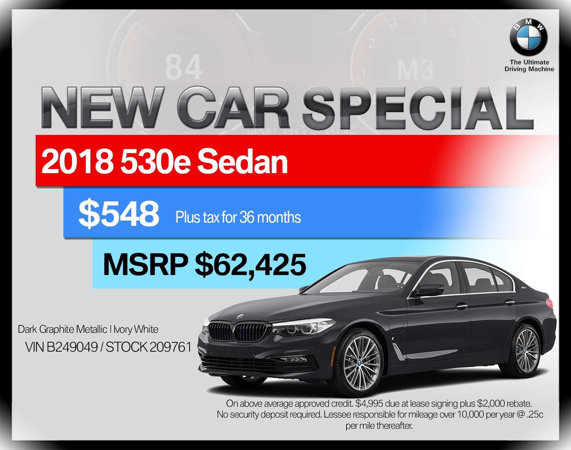 2018 BMW 5 Series 530e iPerformance Plug-In Hybrid