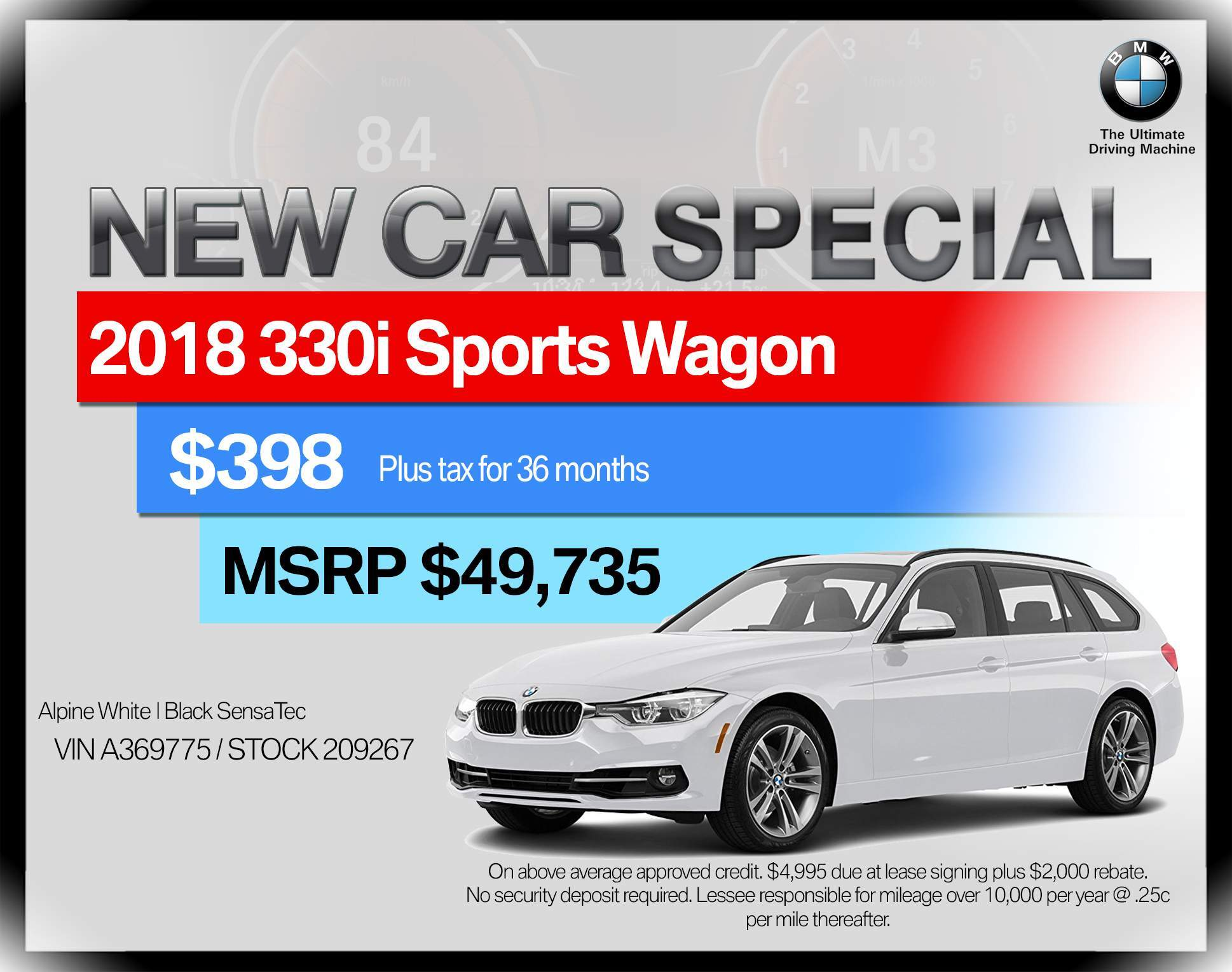 2018 BMW 3 Series 330i xDrive Sports Wagon