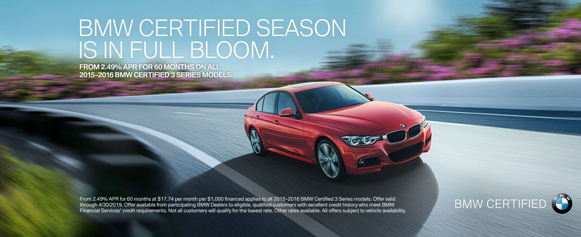 BMW Certified in Full Bloom