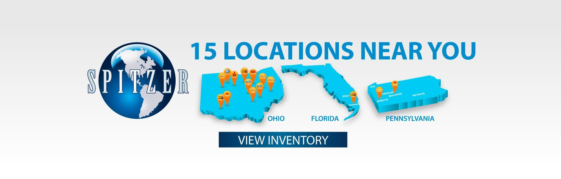 Spitzer Automotive : 15 Locations to choose from
