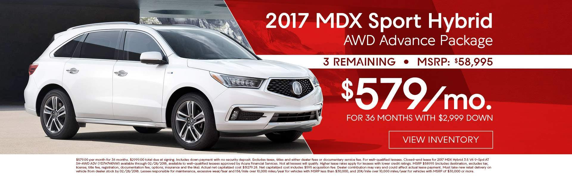 2017 Acura MDX Sport Hybrid AWD Advance Package