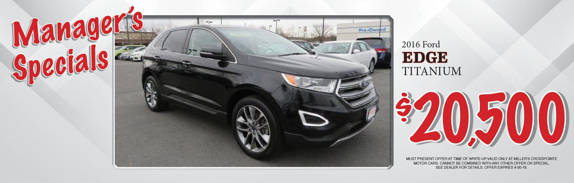 2016 Ford Edge Special