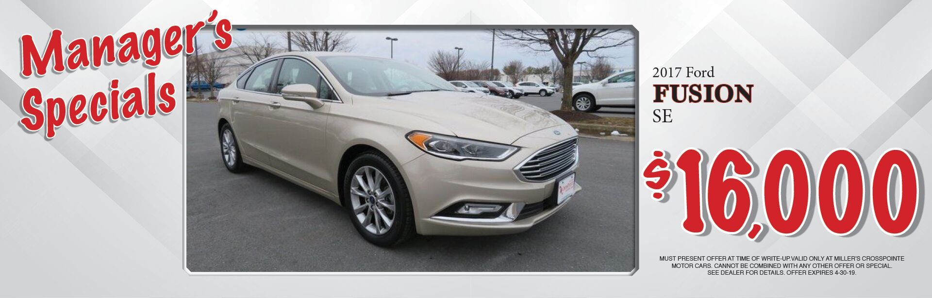 2017 Ford Fusion Special