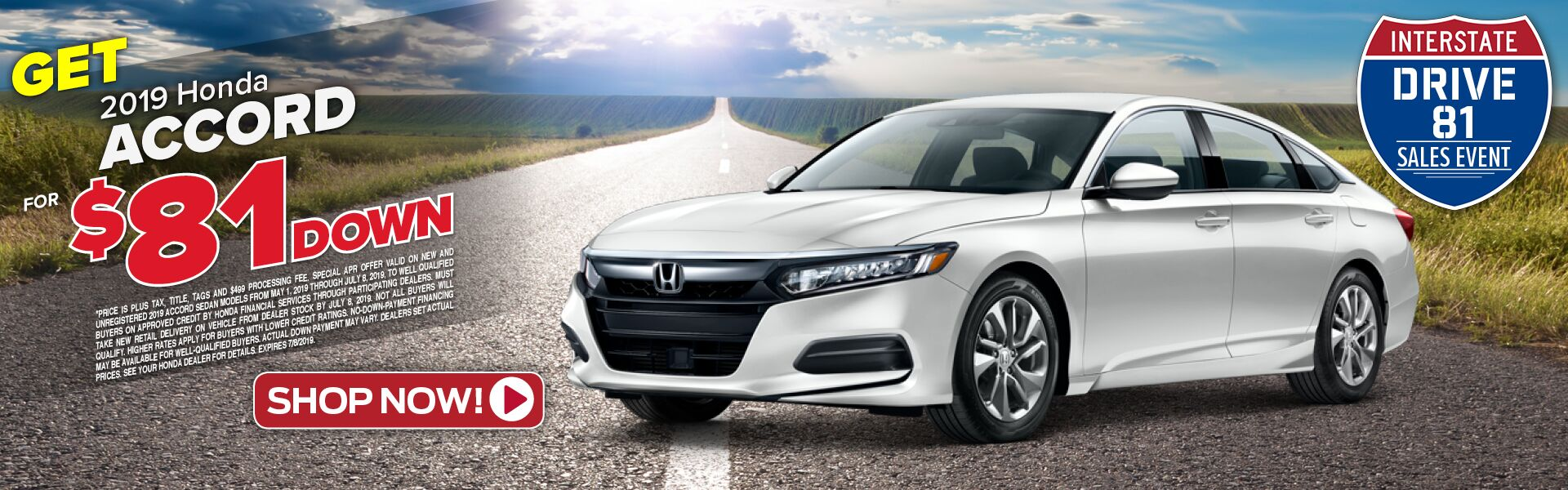 2019 Honda Accord Sedan Special