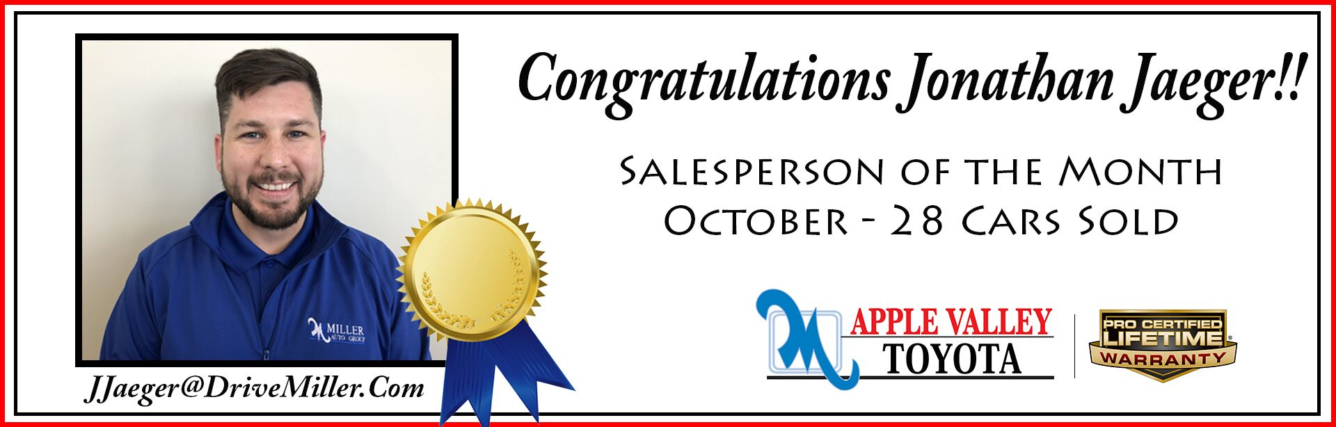 October Salesperson of the Month