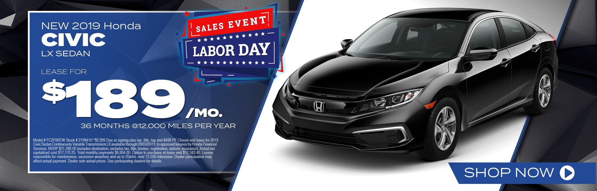 2019 Honda Civic Sedan Special in Winchester, VA