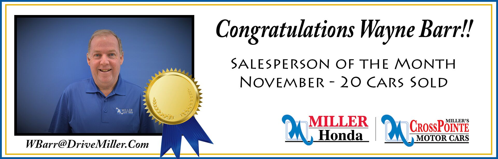 November Salesperson of the Month