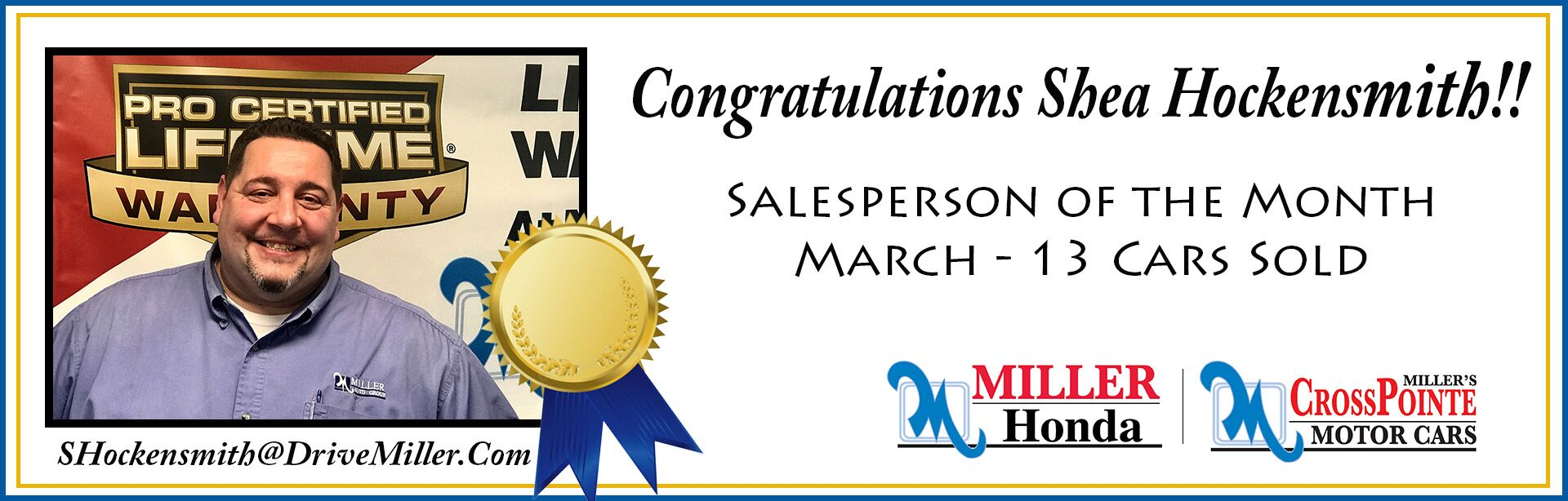 March Salesperson of the Month