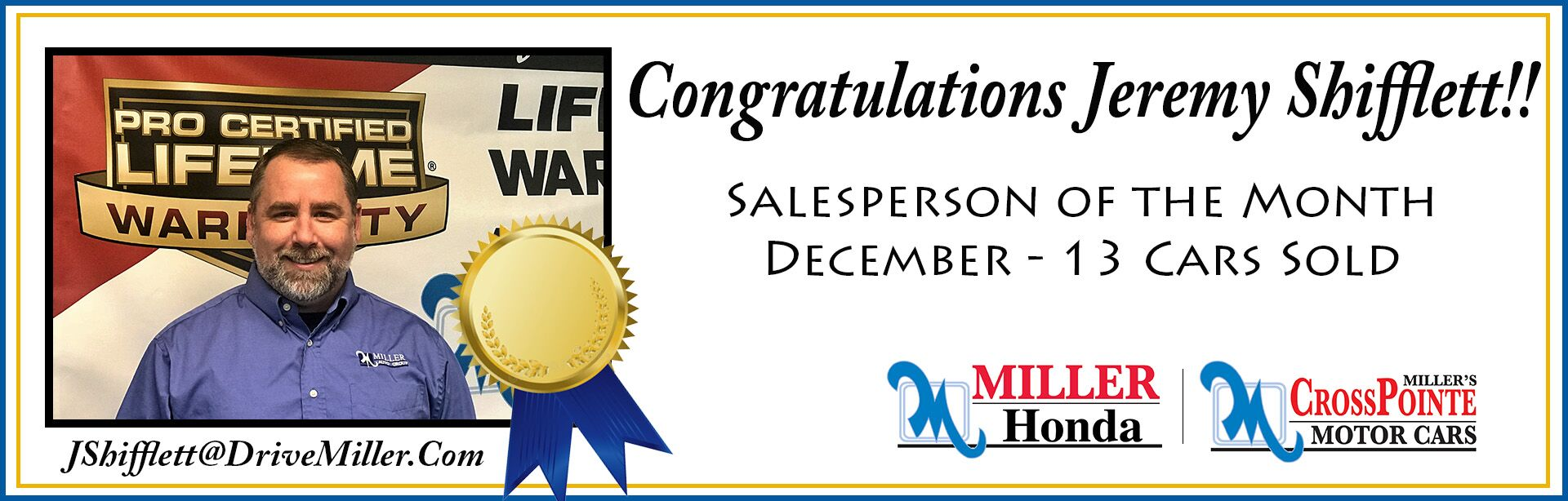 December Salesperson of the Month