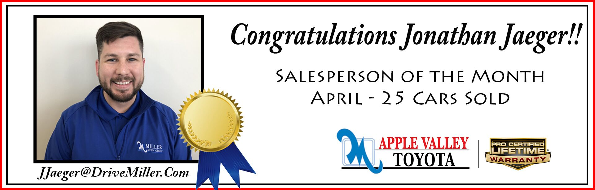 April Salesperson of the Month