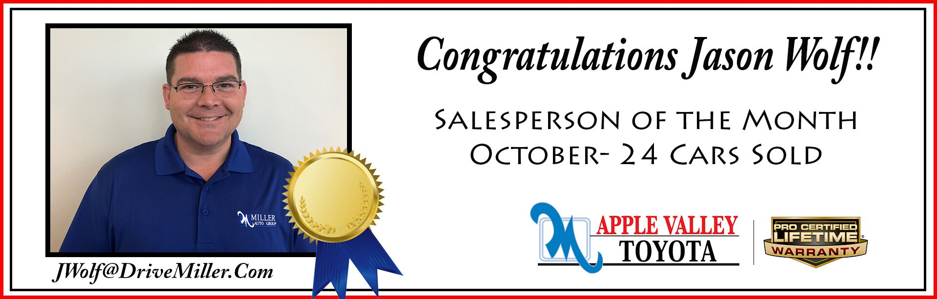 Salesperson of the Month