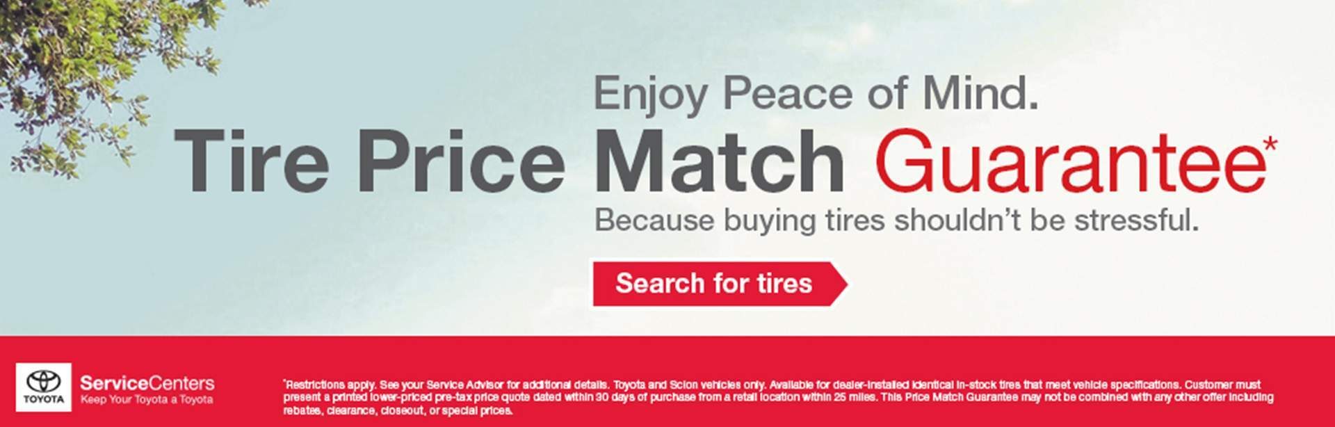 Tire Price Match Savings