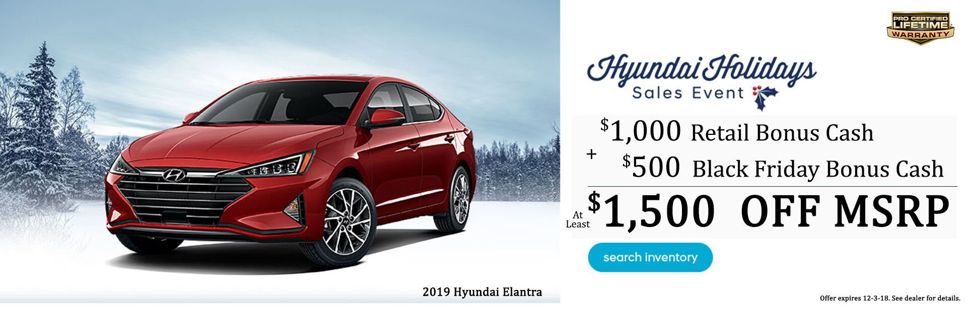 Elantra Holiday Savings