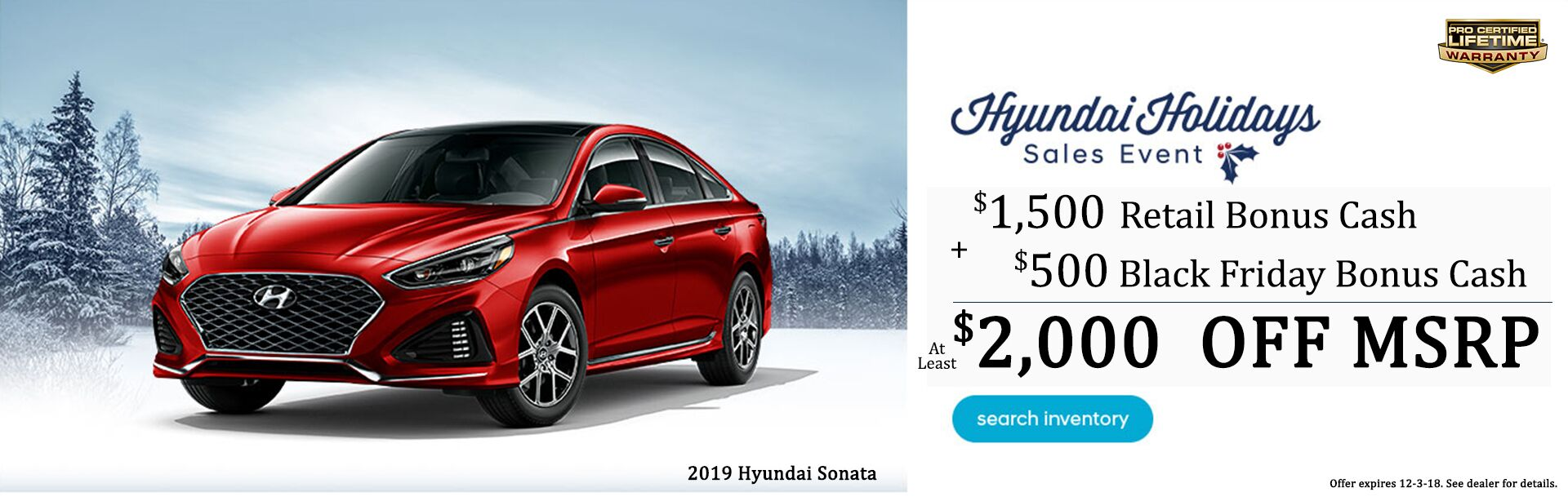 Sonata Holiday Savings