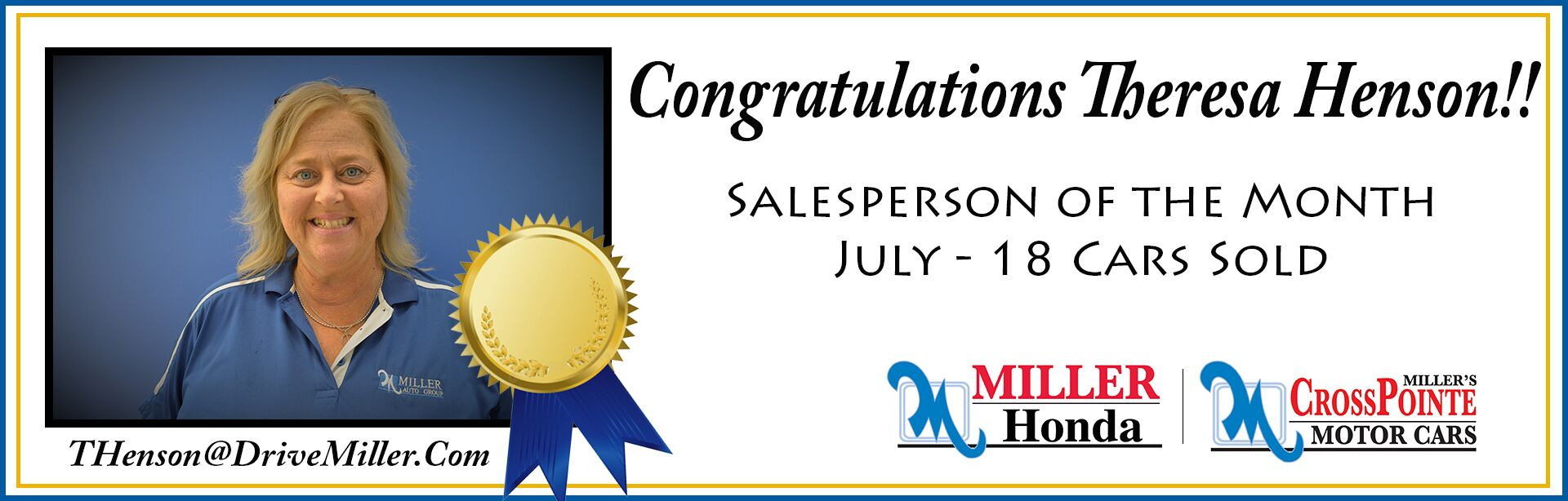 July Salesperson of the Month